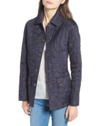 Barbour   Blue 'beadnell - Summer' Quilted Jacket   Lyst