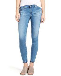 AG Jeans | Blue Ankle Skinny Leggings | Lyst