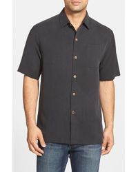 Tommy Bahama - Black 'san Clemente' Original Fit Silk Camp Shirt for Men - Lyst