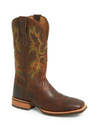 Ariat - Brown 'tombstone Ats' Leather Cowboy Boot for Men - Lyst