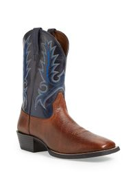 Ariat | Brown 'sport Outfitter' Leather Cowboy Boot for Men | Lyst