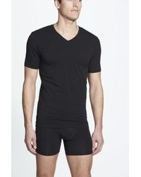 Naked - Essential 2-pack Stretch Cotton T-shirt, Black for Men - Lyst