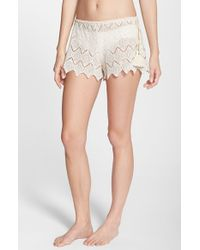 Eberjey | Natural 'dylan' Lace Cover-up Shorts | Lyst