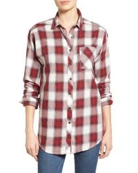 Caslon | Red Boyfriend Shirt | Lyst
