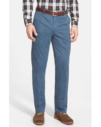 Peter Millar | Blue 'raleigh' Washed Twill Pants for Men | Lyst