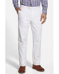Peter Millar | White 'raleigh' Washed Twill Pants for Men | Lyst