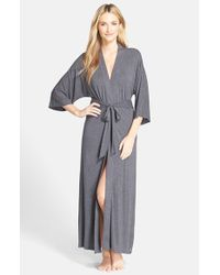 DKNY   Gray 'urban Essentials' Long Robe   Lyst