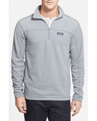 Patagonia | Gray 'micro D' Quarter Zip Front Pullover for Men | Lyst