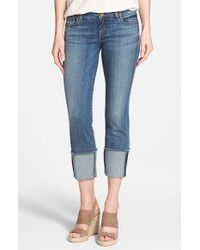 Kut From The Kloth - Blue Wide Cuff Boyfriend Jeans - Lyst