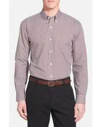 Cutter & Buck | Purple 'epic Easy Care' Classic Fit Wrinkle Free Gingham Sport Shirt for Men | Lyst