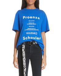 Proenza Schouler - Blue Pswl Graphic Tee - Lyst