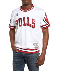 Mitchell & Ness   White 'chicago Bulls' Authentic Mesh Warm-up Jersey for Men   Lyst