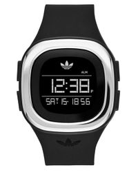 Adidas Originals | Black Denver Digital Silicone Strap Watch for Men | Lyst