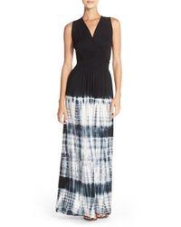 Fraiche By J | Blue Tie Dye Ombre Jersey Maxi Dress | Lyst