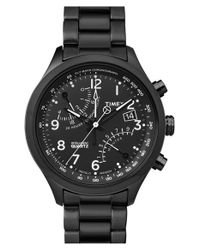 Timex - Black Timex 'intelligent Quartz' Fly-back Chronograph Watch for Men - Lyst