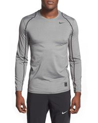 Nike | Gray 'pro Cool Compression' Fitted Long Sleeve Dri-fit T-shirt for Men | Lyst
