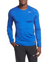 Nike - Blue 'pro Cool Compression' Fitted Long Sleeve Dri-fit T-shirt for Men - Lyst