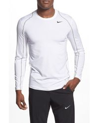 Nike | White 'pro Cool Compression' Fitted Long Sleeve Dri-fit T-shirt for Men | Lyst