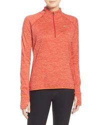 Nike | Orange 'element' Sphere Half Zip Running Shirt | Lyst
