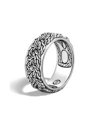 John Hardy | Metallic 'classic Chain' Braided Band Ring | Lyst