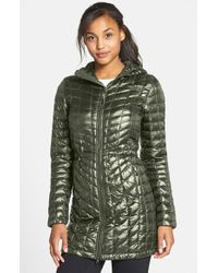 The North Face | Green Thermoball(tm) Primaloft Hooded Parka | Lyst