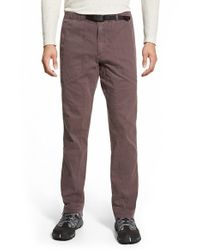 Gramicci - Brown 'freedom G' Stretch Twill Pants for Men - Lyst