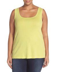 XCVI | Yellow Basic Cotton Tank | Lyst