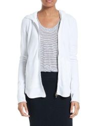 ATM - White Front Zip Hoodie - Lyst