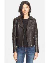 VEDA   Black Dallas Lambskin Leather Jacket   Lyst