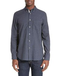 Rag & Bone | Blue Standard Issue Trim Fit Sport Shirt for Men | Lyst