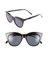 Le Specs | Black Halfmoon Magic 51mm Cat Eye Sunglasses | Lyst
