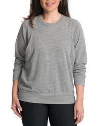 Bun Maternity   Gray Relaxed Daily Maternity/nursing Sweatshirt   Lyst