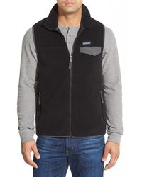 Patagonia | Black 'synchilla Snap-t' Zip Fleece Vest for Men | Lyst