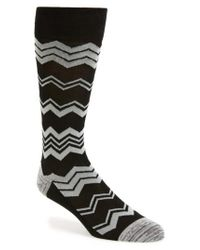 Calibrate | Gray Chevron Socks for Men | Lyst
