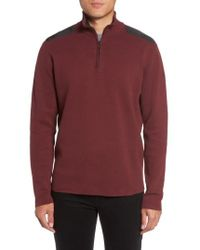 Victorinox | Red Victorinox Swiss Army 'lieutenant' Half Zip Sweater for Men | Lyst