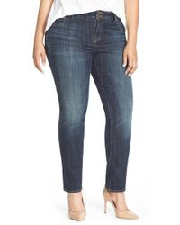 Lucky Brand | Blue 'emma' Stretch Straight Leg Jeans | Lyst