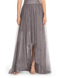 Monique Lhuillier Bridesmaids | Black High/low Tulle Overskirt | Lyst
