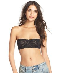 Free People | Black 'love Letters' Strapless Underwire Bra | Lyst