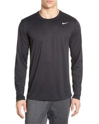 Nike | Black 'legend 2.0' Long Sleeve Dri-fit Training T-shirt for Men | Lyst