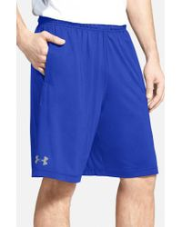 Under Armour - Blue 'raid' Heatgear Loose-fit Athletic Shorts for Men - Lyst