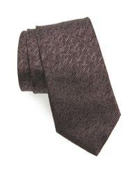 John Varvatos - Multicolor Solid Silk Tie for Men - Lyst