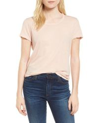 James Perse - Blue Crepe Jersey Tee - Lyst
