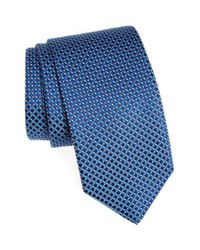 Eton of Sweden   Blue Geometric Silk Tie for Men   Lyst