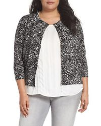 Sejour - Black Easy Cropped Cardigan - Lyst