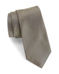 Calibrate - Yellow Anser Solid Silk Tie for Men - Lyst