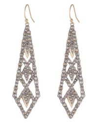 Alexis Bittar - Metallic Crystal Encrusted Drop Earrings - Lyst