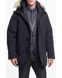Canada Goose - Gray 'chateau' Slim Fit Genuine Coyote Fur Trim Jacket for Men - Lyst