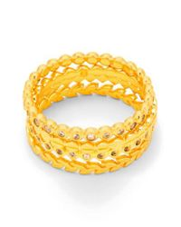 Gorjana - Yellow Stackable Set Of 4 Band Rings - Lyst