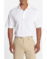Cutter & Buck | White 'championship' Classic Fit Drytec Golf Polo for Men | Lyst