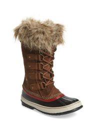 Sorel   Multicolor 'joan Of Arctic' Waterproof Snow Boot   Lyst